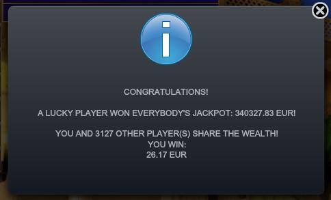 Everybody's Jackpot slot win