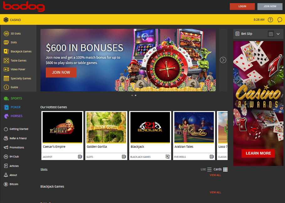 bodog casino review canada