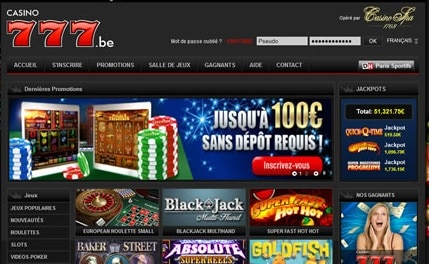 777 casino belgie