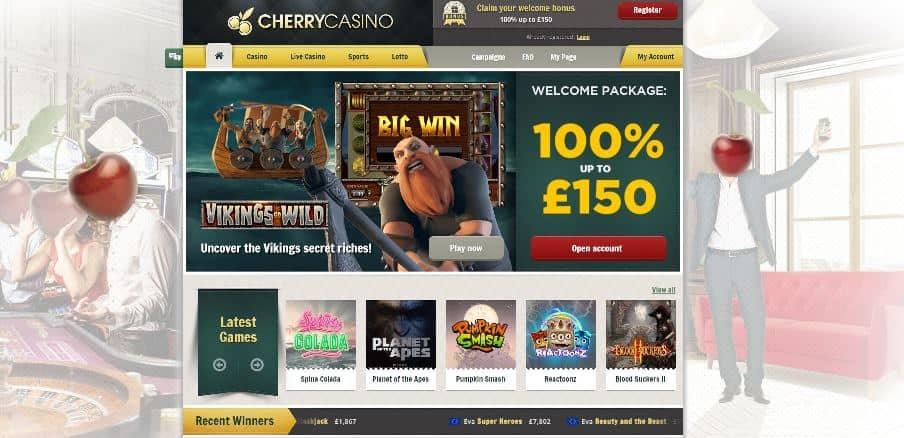 cherry casino review screenshot