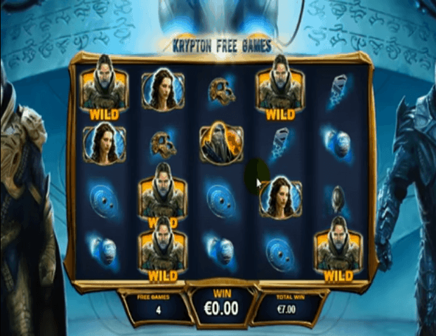 Man of Steel slot krypton free spins