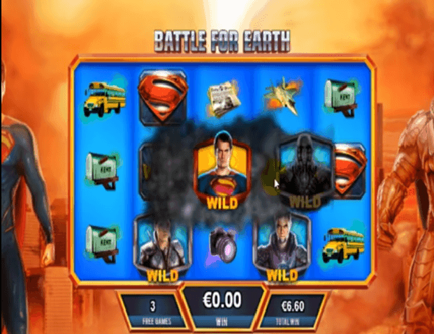 man of steel slot battle for earth