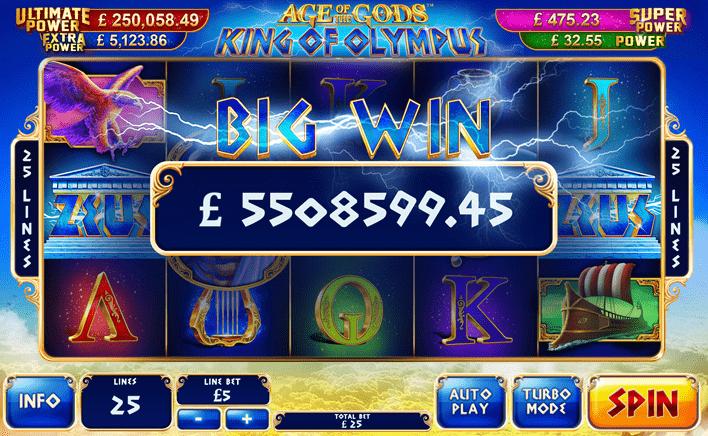playtech king of the gods slot