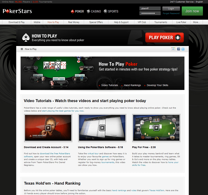pokerstars online poker review