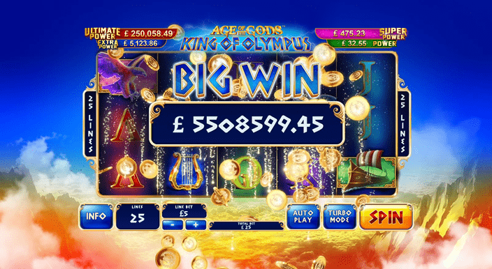zeus big win screenshot