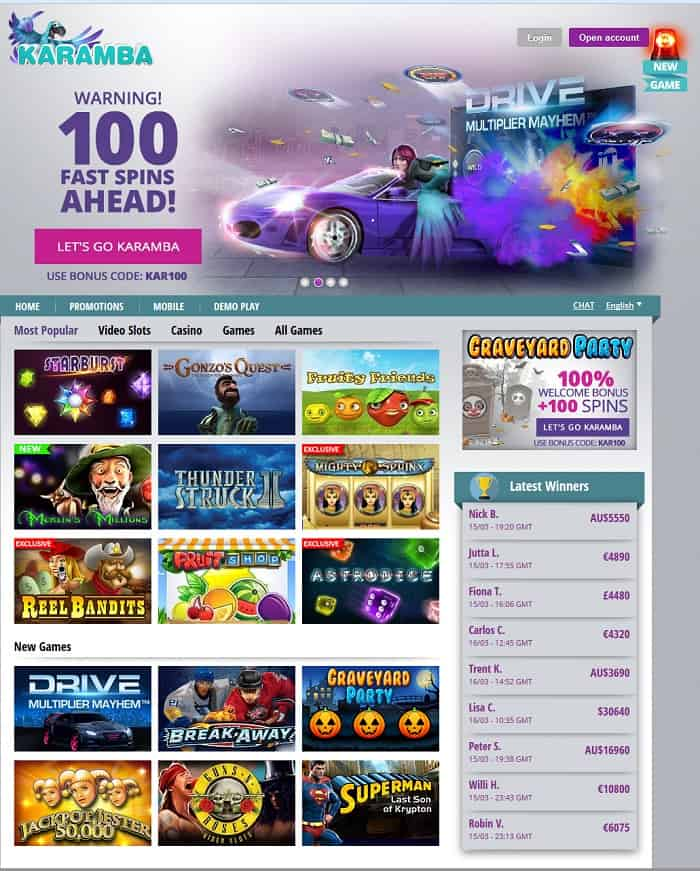 karamba online casino review