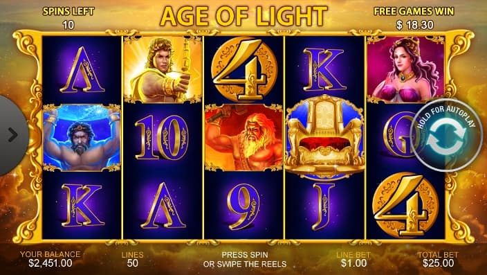 age of light casino game