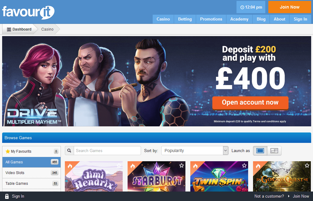 Favourit Casino Review