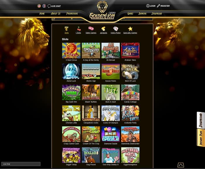 golden lion online casino reviews