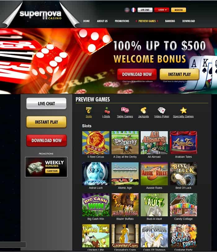 supernova online casino reviews