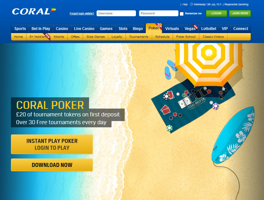 Coral Poker Review