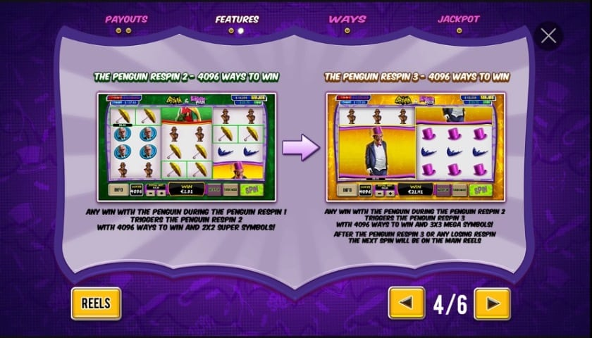 batman penguin prize slot penguin respin 3