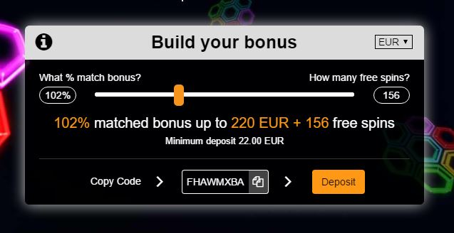 Oshi-bonus-builder-bitcoin casino