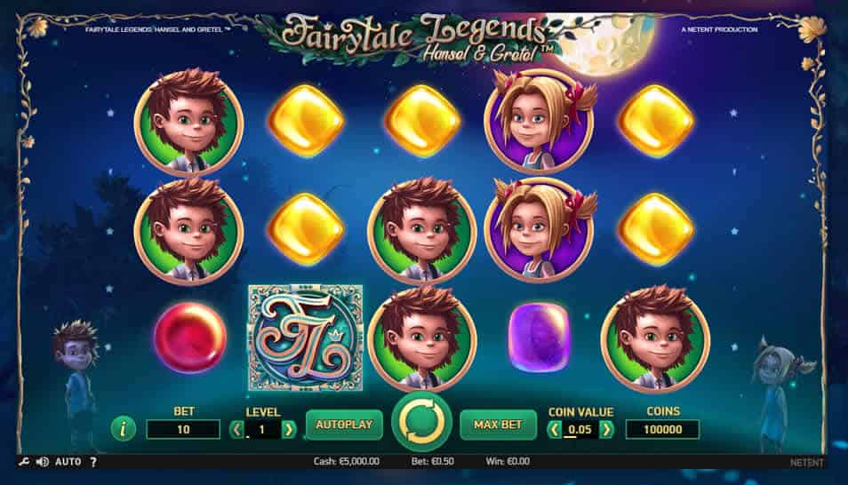 Fairytale Legends Hansel and Gretel Slot Machine by Netent