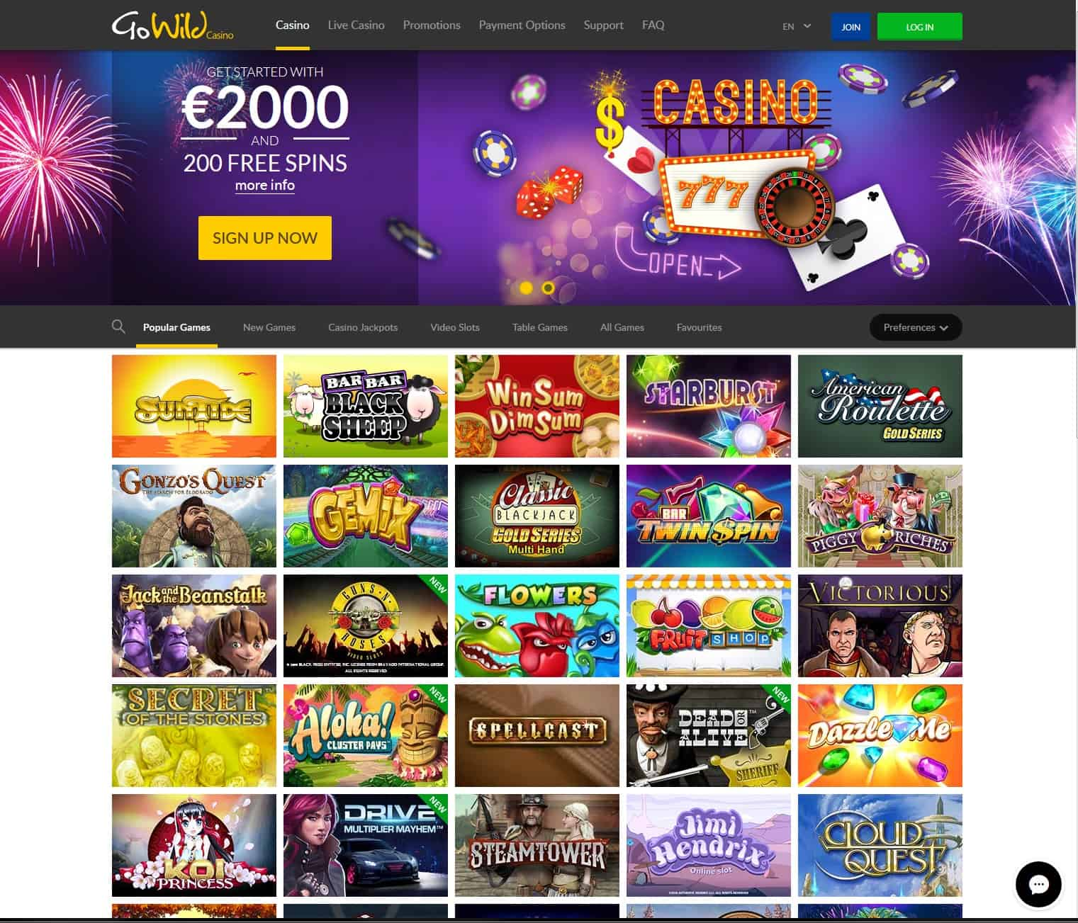 Go Wild Casino Review
