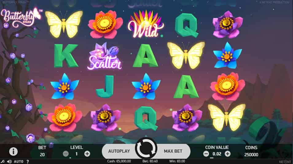 Butterfly Staxx Slot Machine by Netent