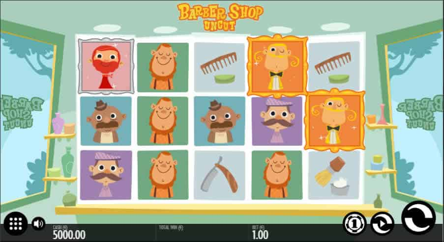 Barber Shop Uncut Slot Machine by Thunderkick