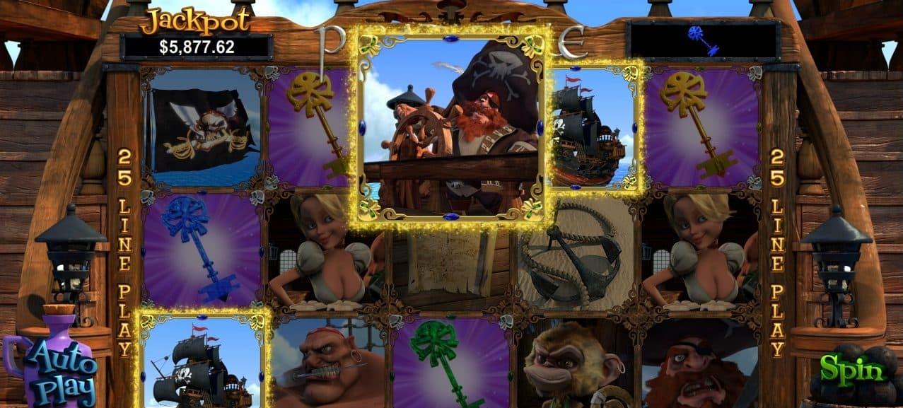 pirate isle slot rtg