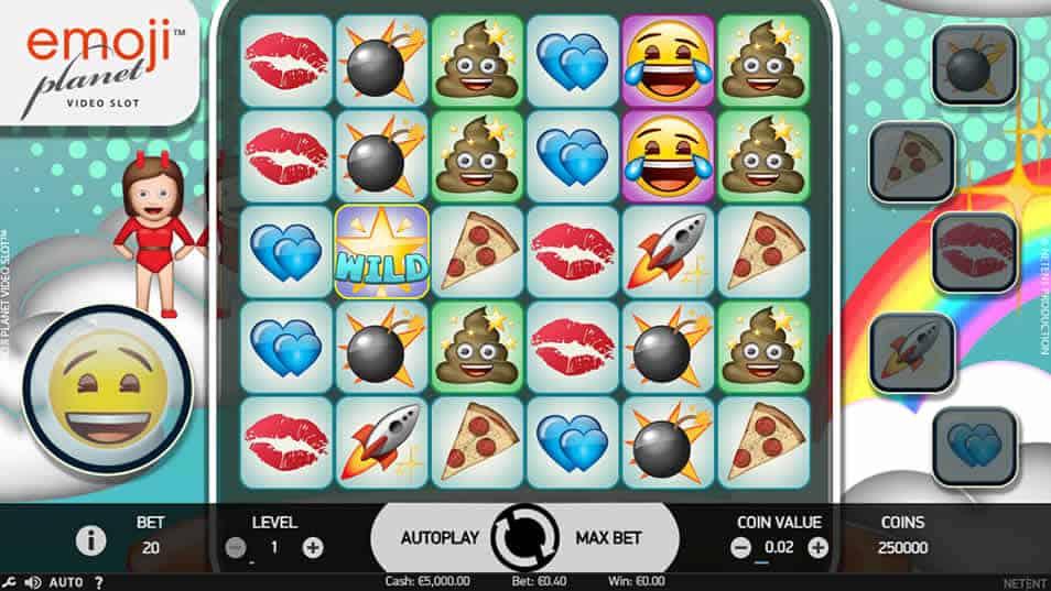 Emojiplanet Slot Machine by Netent