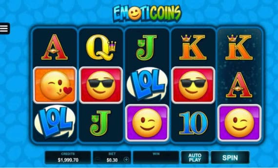 Emoticoins Slot Machine by Microgaming
