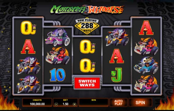 Monster Wheels Slot Machine by Microgaming