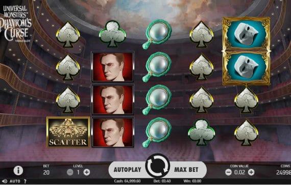 Universal Monsters Phantoms Curse Slot Machine