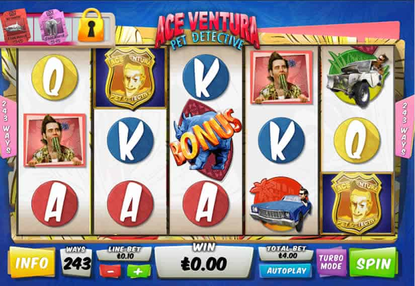Ace Ventura Pet Detective Slot by Playtech
