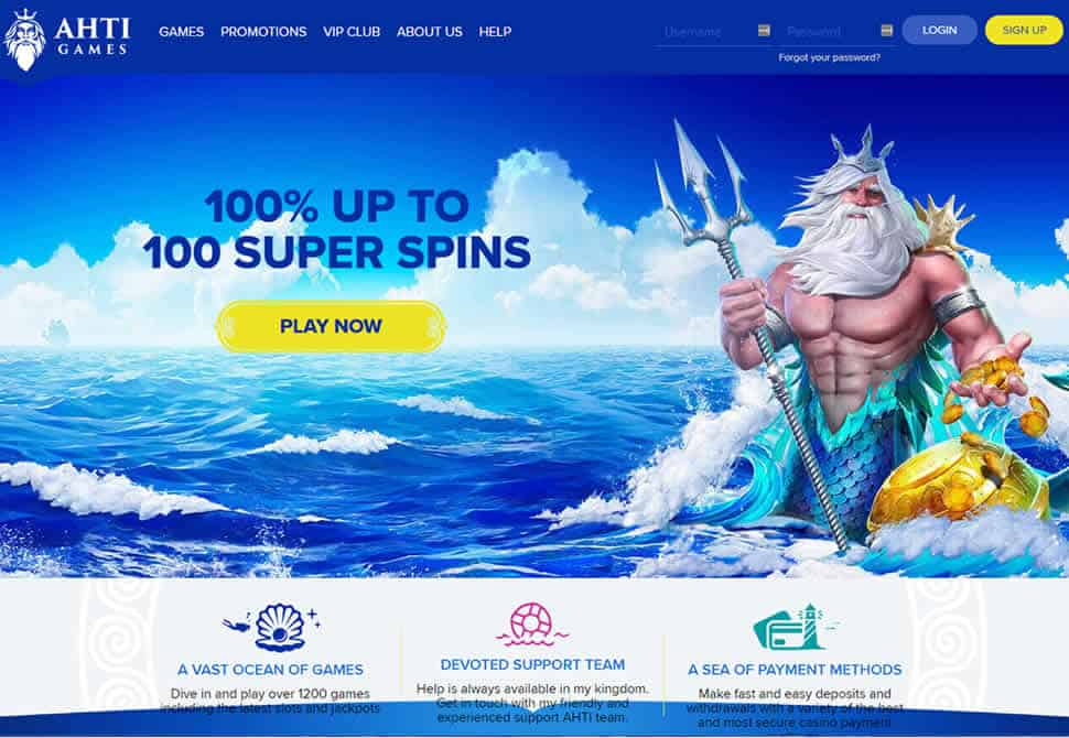 AHTI Games Casino HomePage