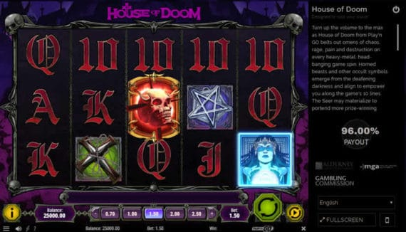 House of Doom Slot by Play'n Go