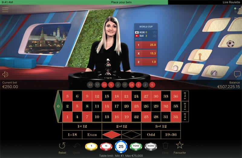Netent Table Games and Live Sports Betting world cup 2018