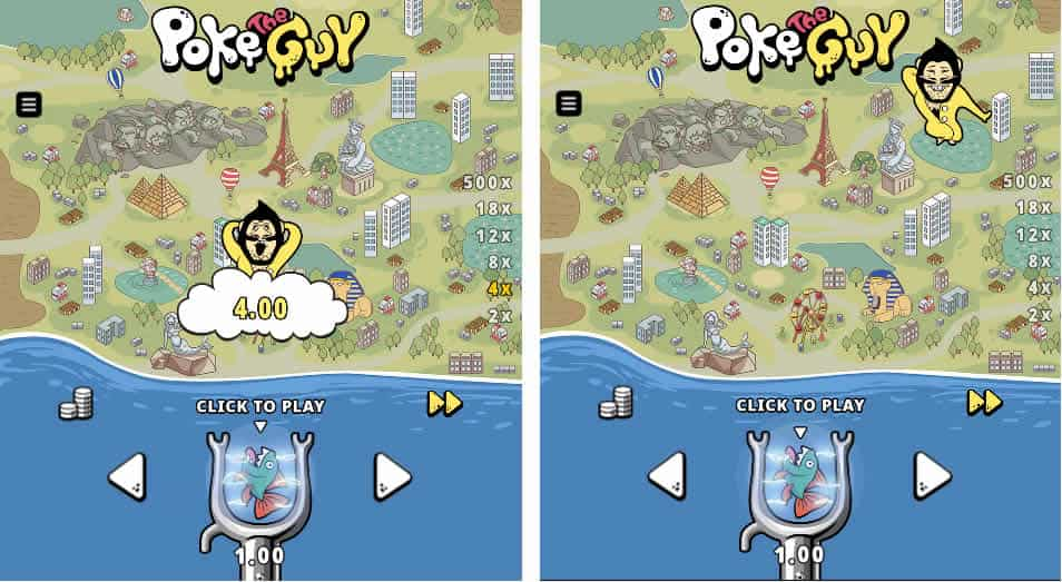 Poke the Guy Slot Machine by Microgaming
