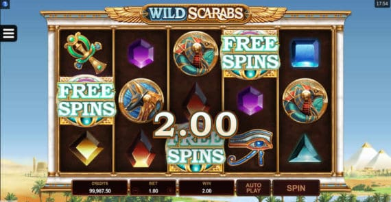 Wild Scarabs Slot by Microgaming