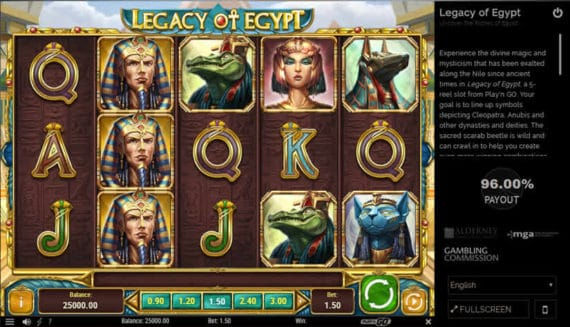 Legacy of Egypt Slot by Play 'n GO