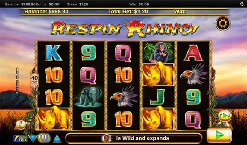 Respin Rhino Slot Machine by Nyx