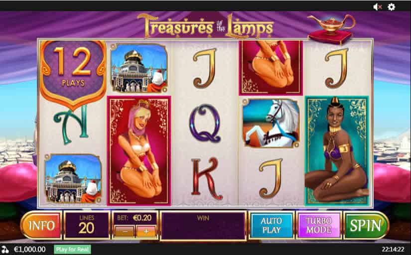 Treasures Of The Lamps Slot by Playtech One