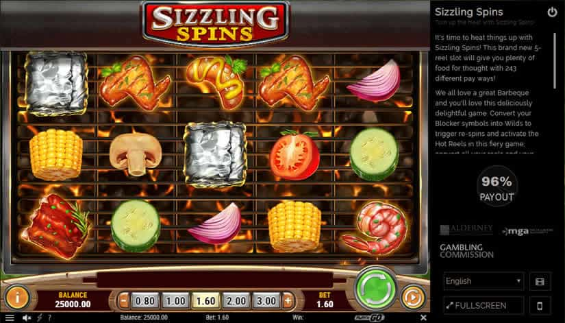 Sizzling Spins Slot by Play'n Go