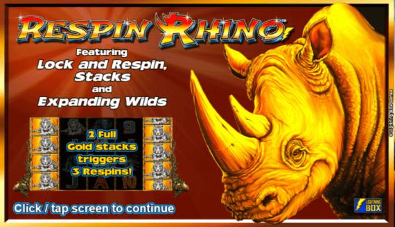 Respin Rhino Slot Bonus Features