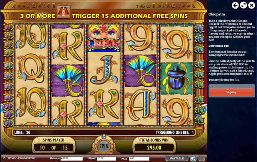 Cleopatra Slot by IGT: Top 9 Egypt themed slot machines