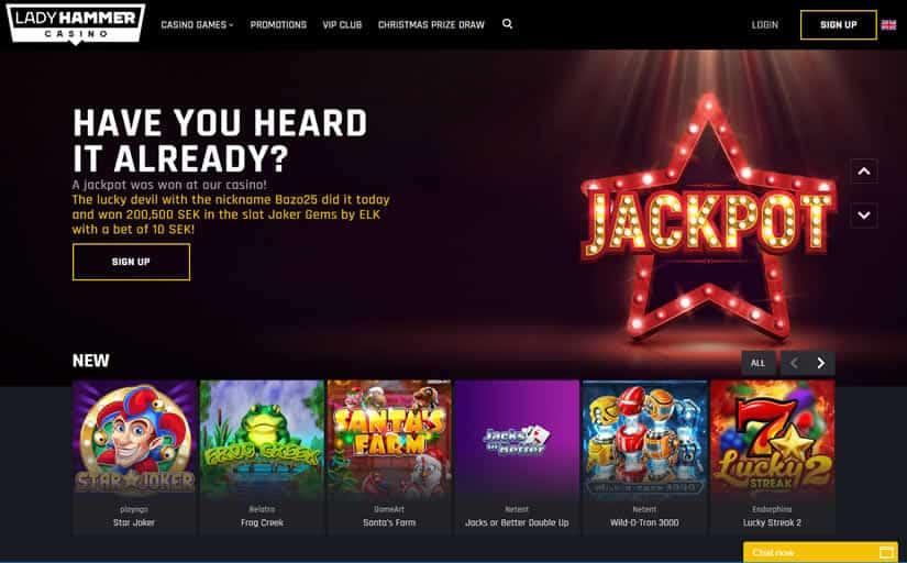 Lady Hammer Casino Jackpot