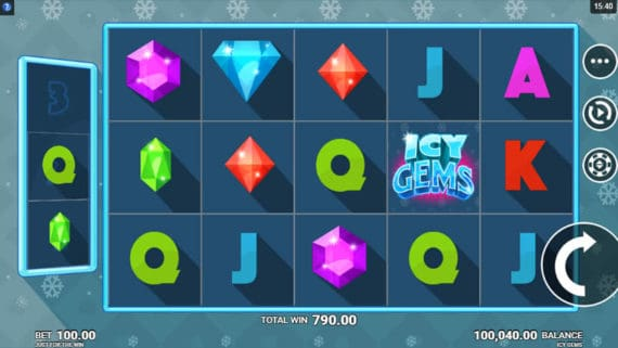 Icy Gems Slot by JFTW & Microgaming