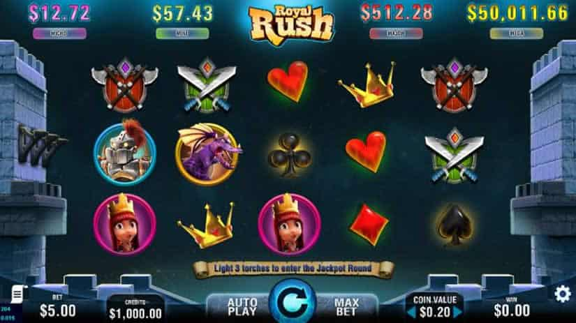 Royal Rush slot by 7DG for PokerStars Casino