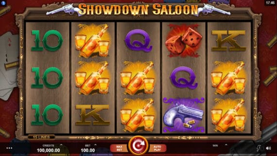 The Showdown Saloon slot by Microgaming