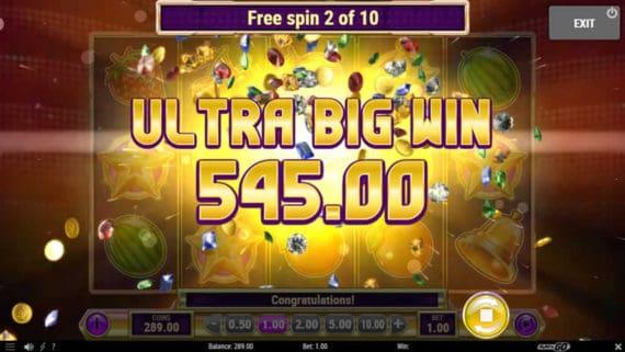 Star Joker slot big win by Play'n Go