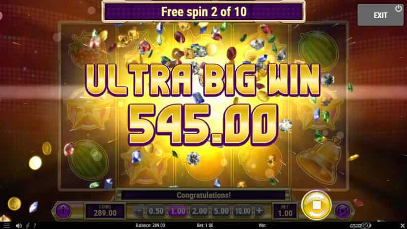 Star Joker slot big win by Play'n Go