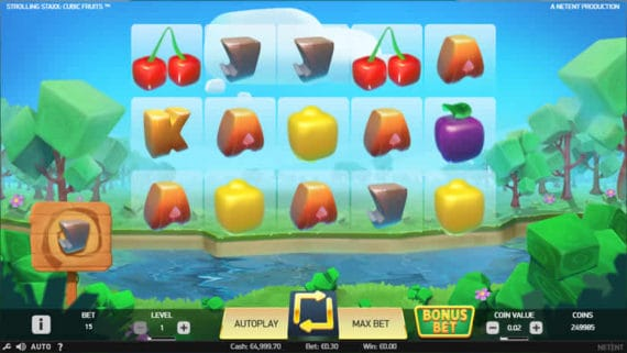 Strolling Stax Cubic Fruits Slot by Netent