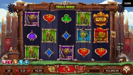 Trolls Bridge Slot by Yggdrasil