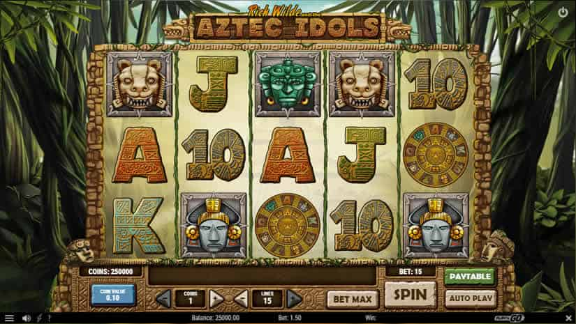 Aztec Idols slot by Play'n Go