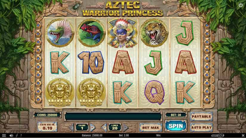 Aztec Warrior Princess slot by Play'N Go