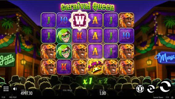 Carnival Queen slot from Thunderkick