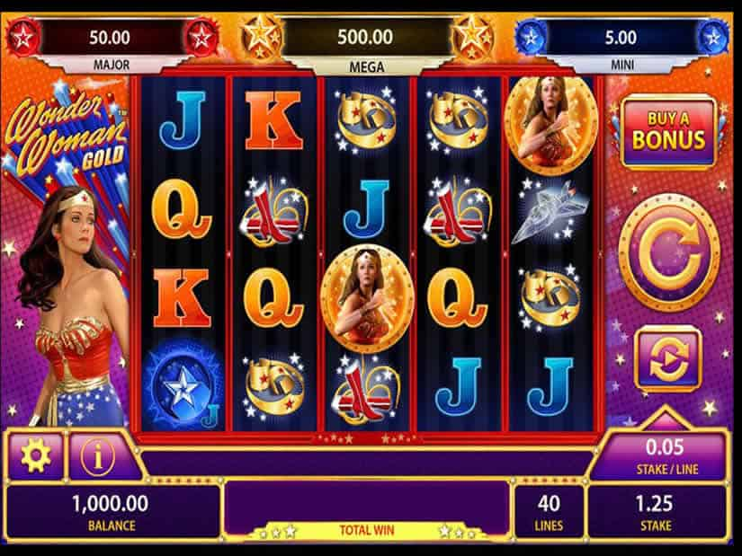 Wonder Woman Gold Slot by Scientific Games